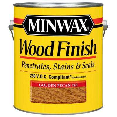 1 gal. Wood Finish Golden Pecan Oil Based Interior Stain 250 VOC (2-Pack)