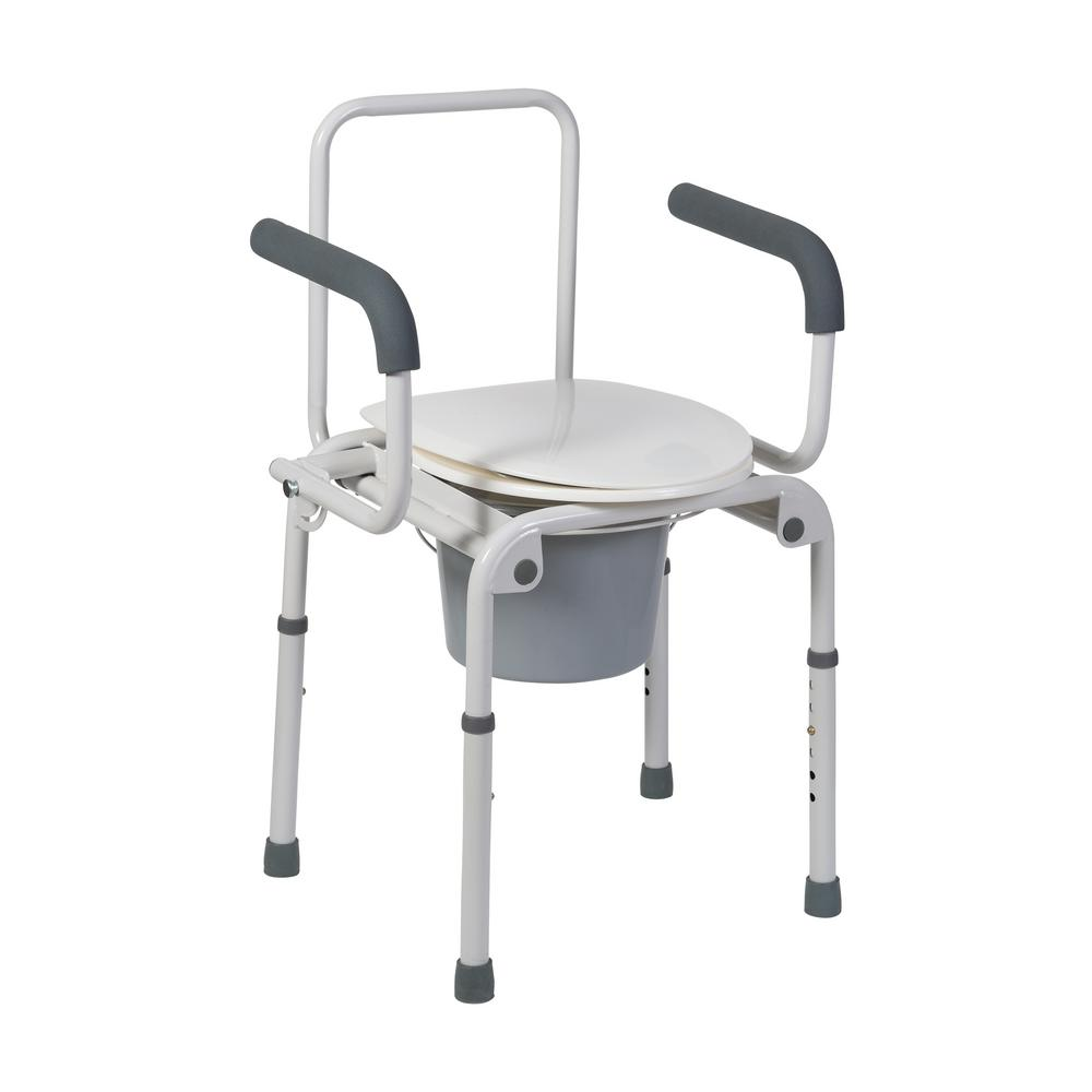 DMI Drop-Arm Commode in Steel-520-1213-1900 - The Home Depot