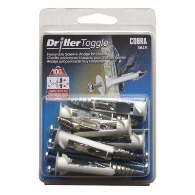 3/16 in. x 3 in. Zinc-Plated Driller Toggles (6-Pack)
