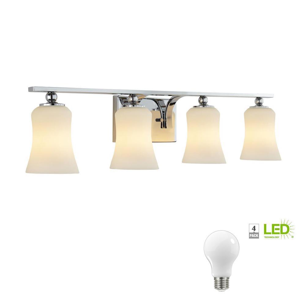 Home decorators collection 4 light chrome square bath - Home decorators bathroom lighting ...