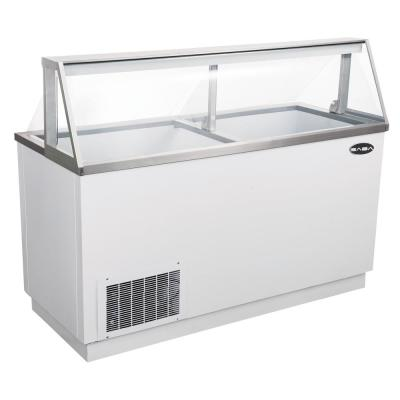 66 cu. Ft. Commercial Chest Freezer Ice Cream Dipping Cabinet Display Case in White