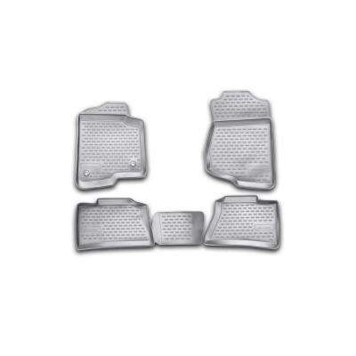 Novline Black Heavy-Duty 2007-2013 Chevrolet Silverado Crew Cab 1500-2500HD-3500HD Molded TPO Floor Liner (4-Piece)