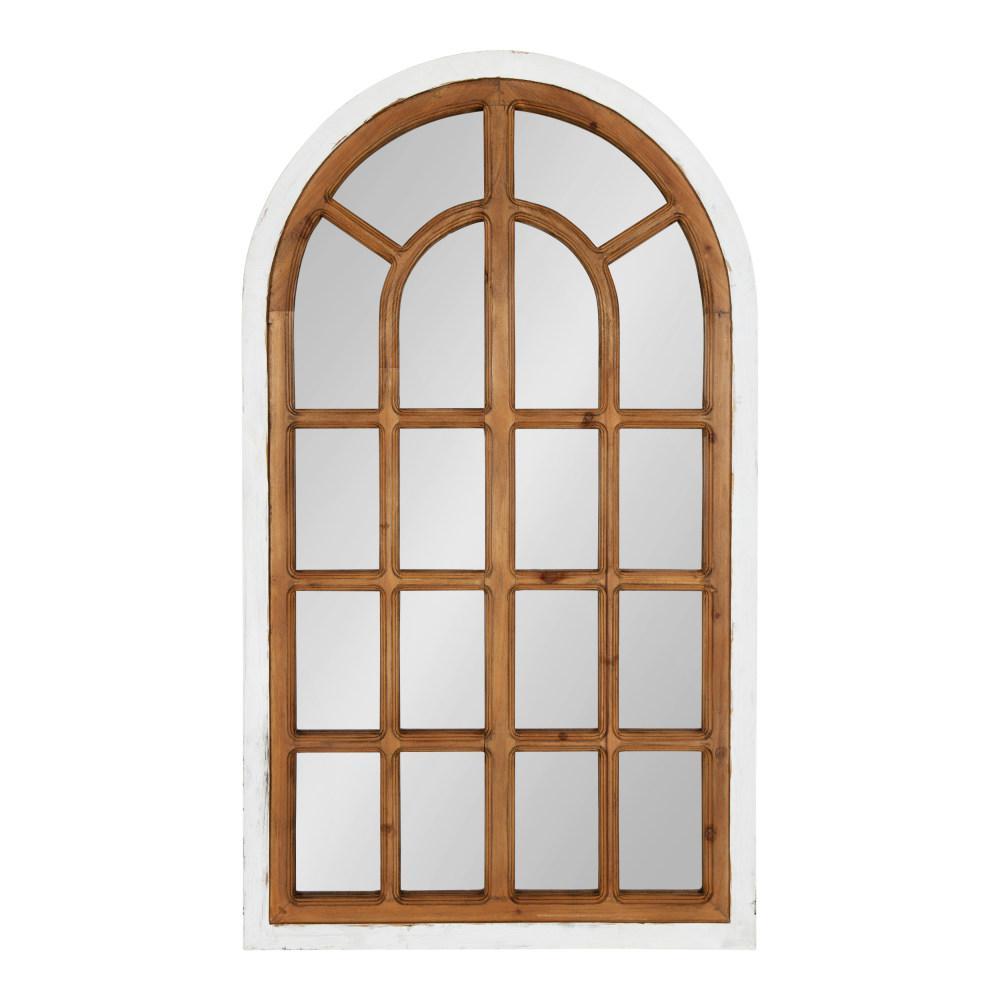 Medium Arch White Classic Mirror (38 in. H x 22 in. W)
