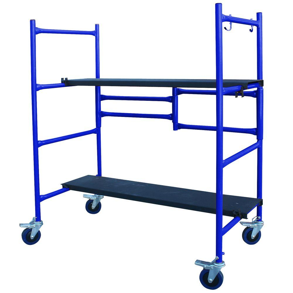 PRO-SERIES 4 ft. x 4 ft. x 2 ft. Roll and Fold Mini Scaffolding-DISCONTINUED