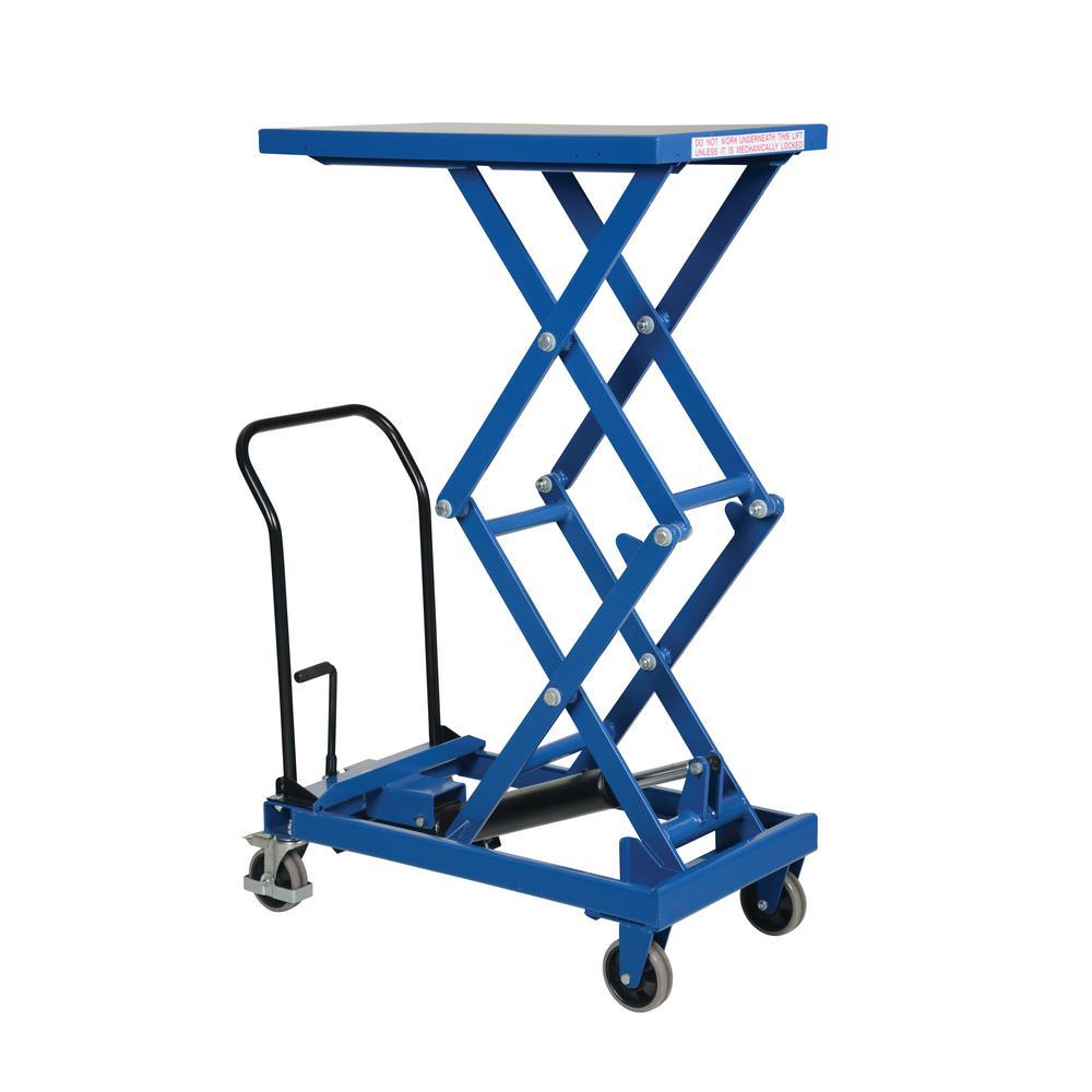 300 lb. Capacity 19.5 in. x 33 in. Premium Double Scissor Cart