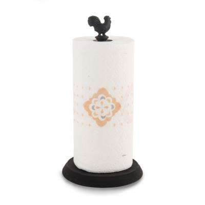 Rooster Countertop Black Paper Towel Holder