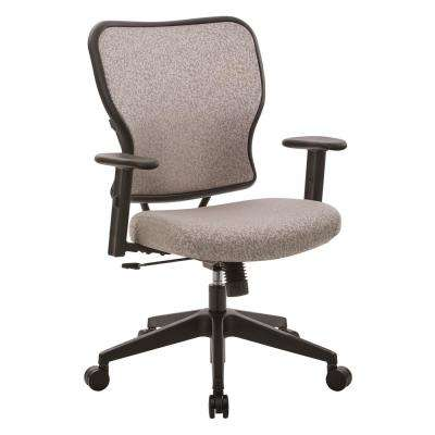 Deluxe 2 to 1 Latte Fabric Mechanical Height Adjustable Arms Chair