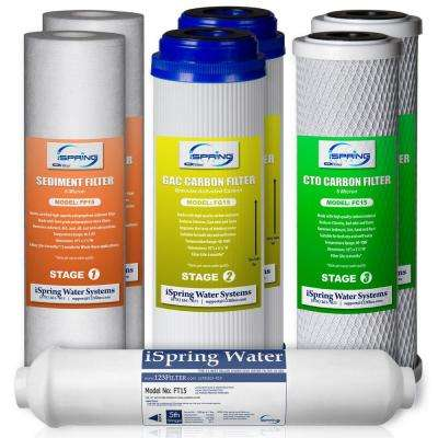 1-Year Filter Pack for RCC7, RCC7P, RCC7U and Standard 5-Stage Reverse Osmosis Systems (no membrane included)