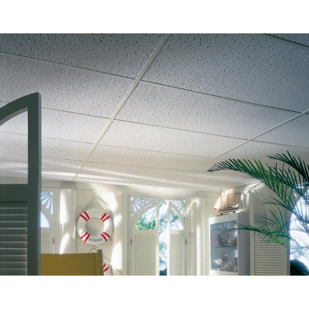 Armstrong Ceilings Textured 2 Ft X 4 Ft Lay In Ceiling Panel