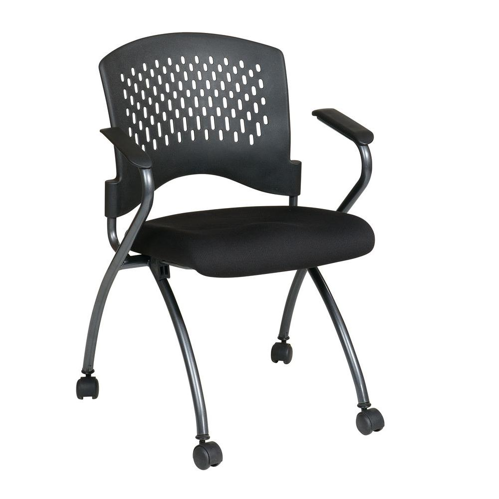 Pro Line Ii Coal Freeflex Rolling Visitor Office Chair Set Of 2