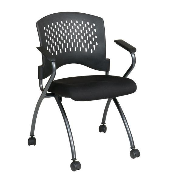 912dfbf16 Pro-Line II Coal FreeFlex Rolling Visitor Office Chair (Set of 2) 84330-30  - The Home Depot