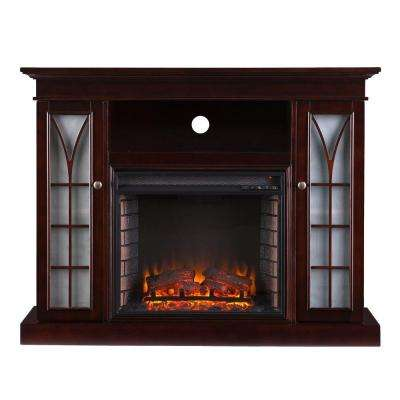 Ronald 48 in. Freestanding Media Electric Fireplace in Espresso