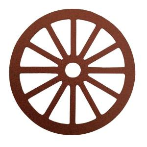 Quiet Glide 3-1/8 inch Dia Wagon Wheel Decorative New Age Rust Roller Cover by Quiet Glide