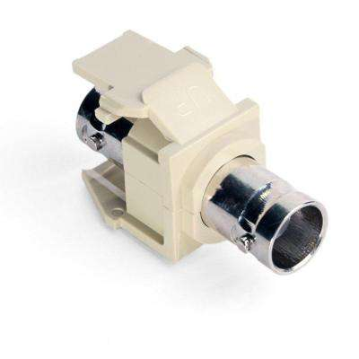 QuickPort BNC Nickel-Plated Adapter, Ivory