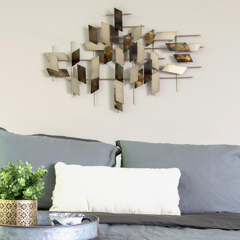 Modern Metal Mosaic Wall Decor