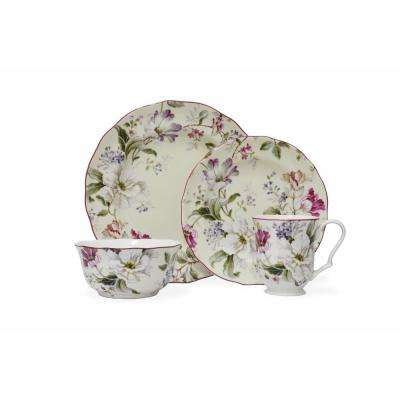 Gisela 16-Piece Cream Dinnerware Set