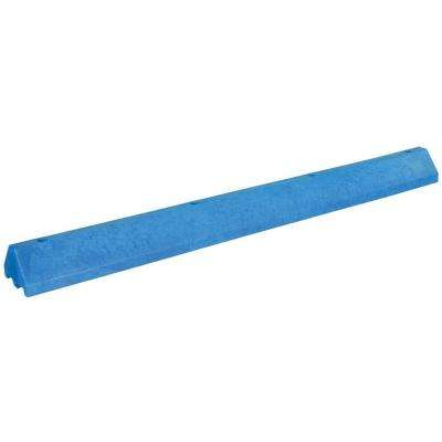 96 in. Recycled Blue Plastic Car Stop