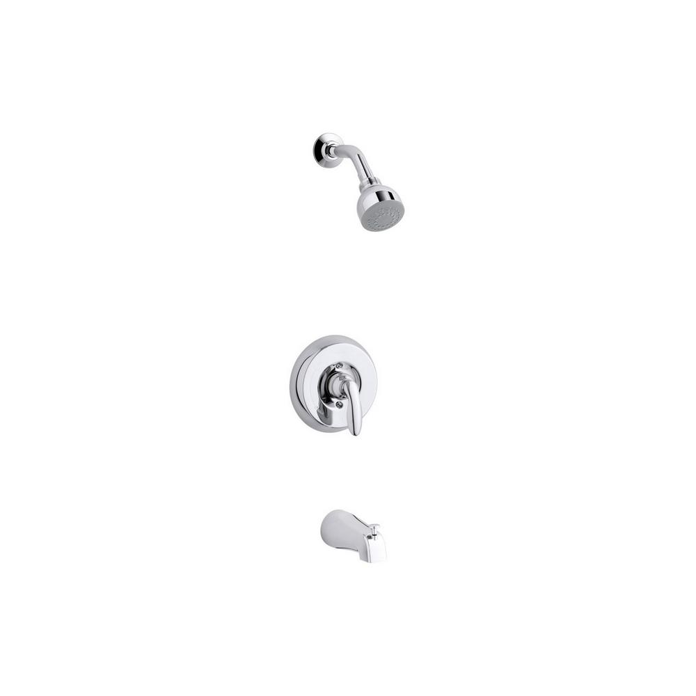 KOHLER Coralais 1-Handle 1-Spray Tub and Shower Faucet with Lever ...