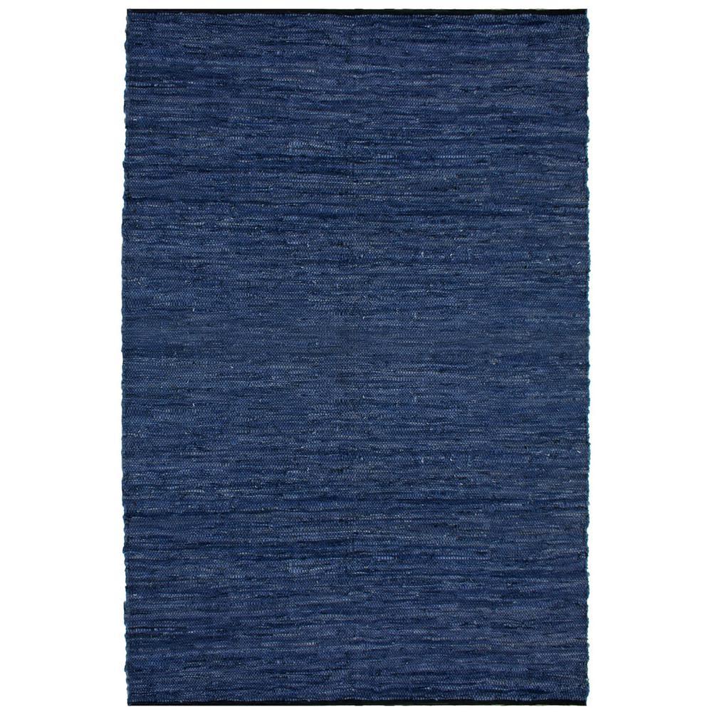 Leather Matador Blue 2 ft. x 3 ft. Area Rug