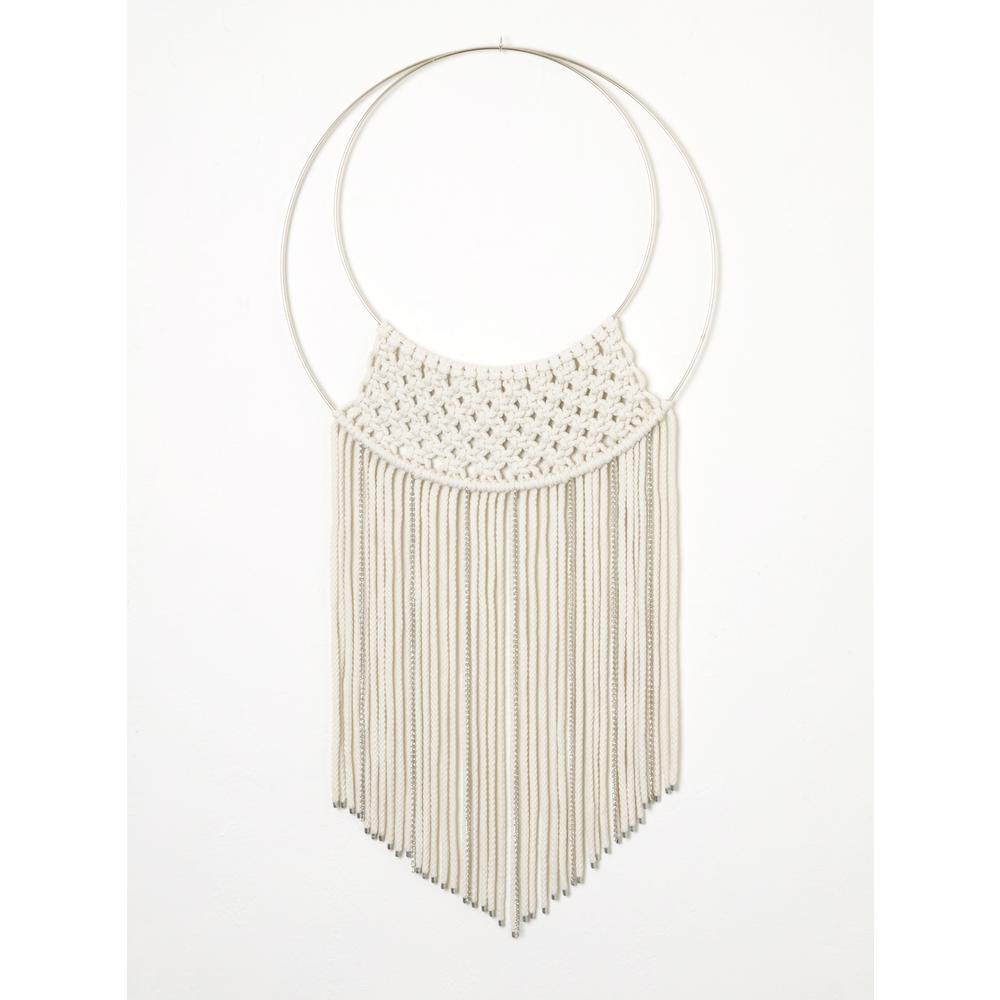Brandtworks Metal Accented Macrame Wall Hanging Mac Lw L The