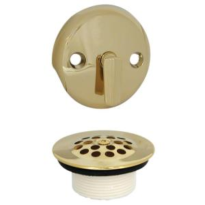 Danco Trip Lever Tub Drain and Overflow Trim Kit in Polished Brass by DANCO