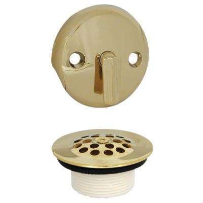 Trip Lever Tub Drain and Overflow Trim Kit in Polished Brass