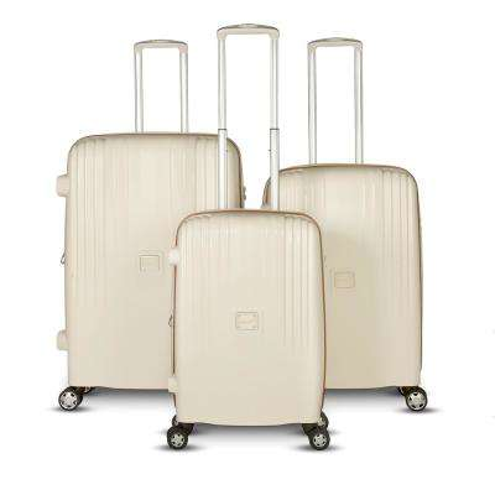 Gallo Collection 3-Piece Beige Upright Hardside Luggage Set