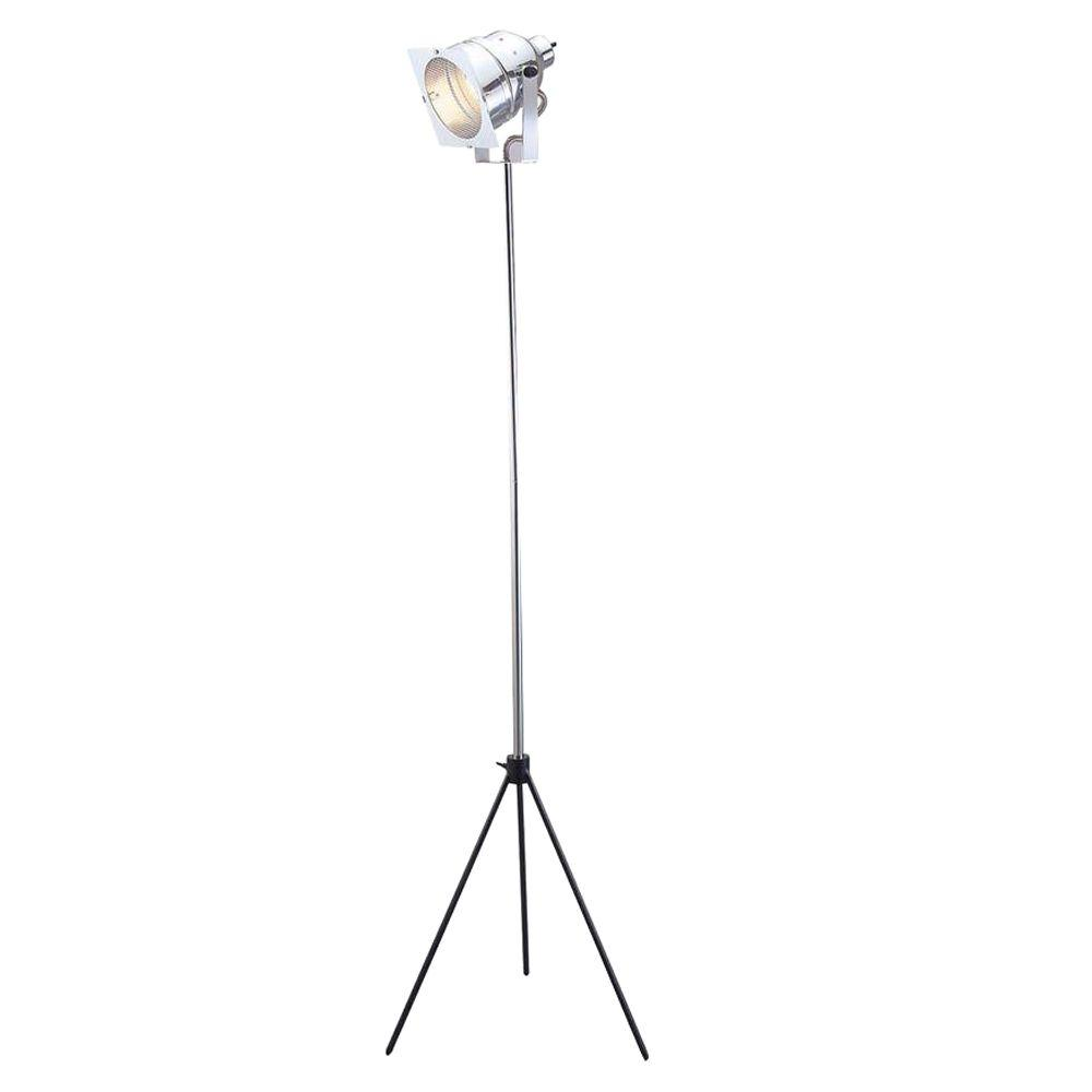 Adesso Spotlight 61 in. Chrome Floor Lamp