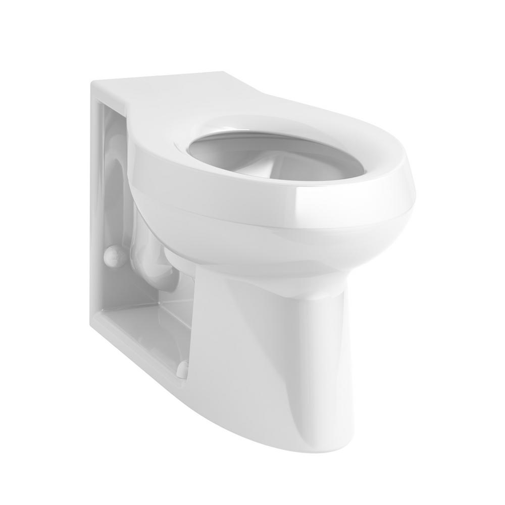 KOHLER Anglesey Elongated Toilet Bowl Only with Integral Seat in White