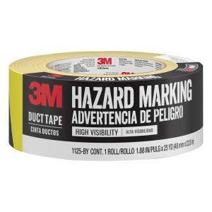 3m 1 88 in x 25 yds black  yellow hazard marking duct