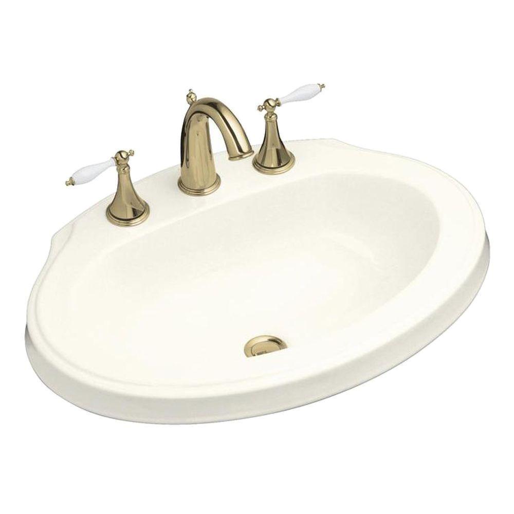 KOHLER Leighton Self-Rimming Bathroom Sink in Biscuit-DISCONTINUED
