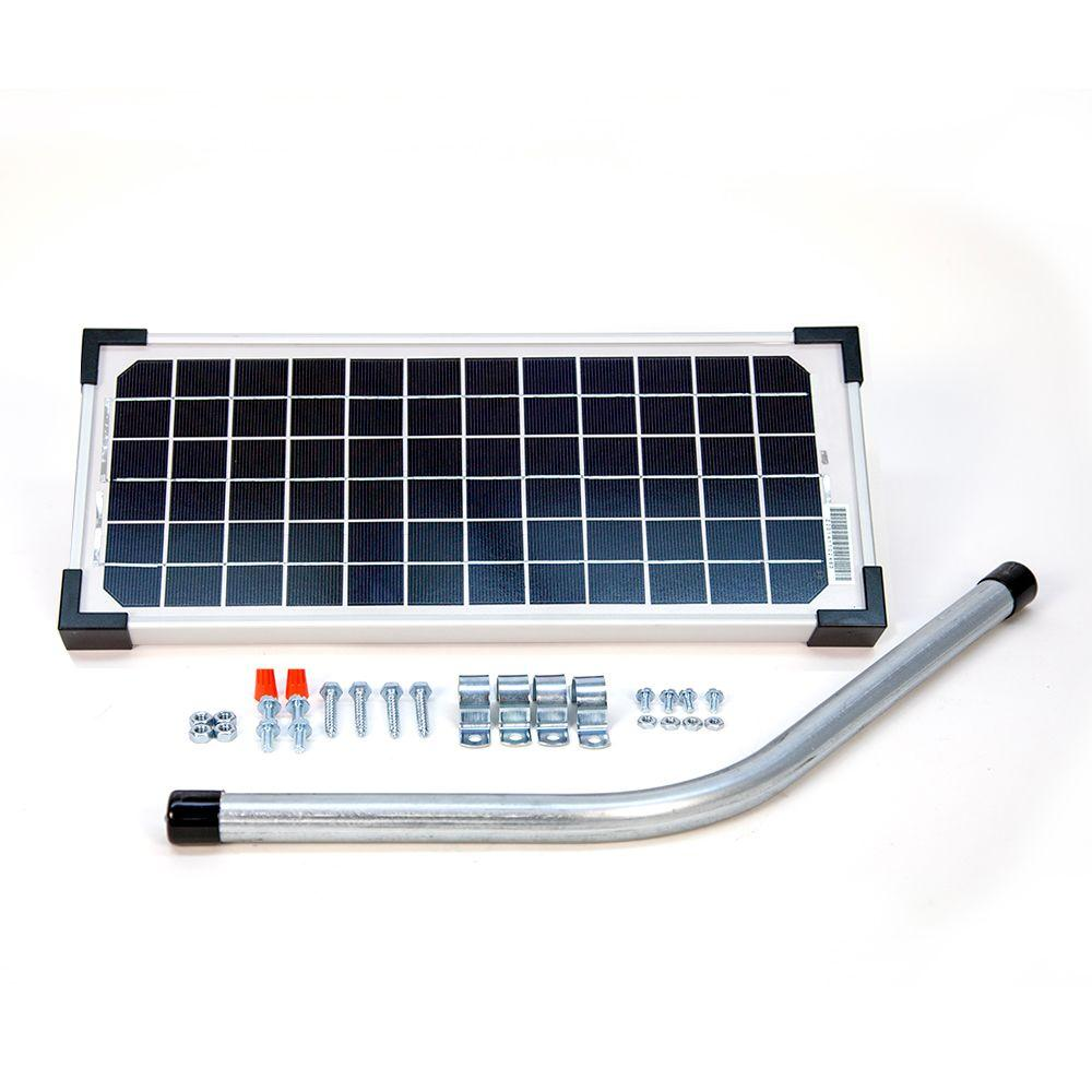 10-Watt Solar Panel Kit for Electric Gate Opener
