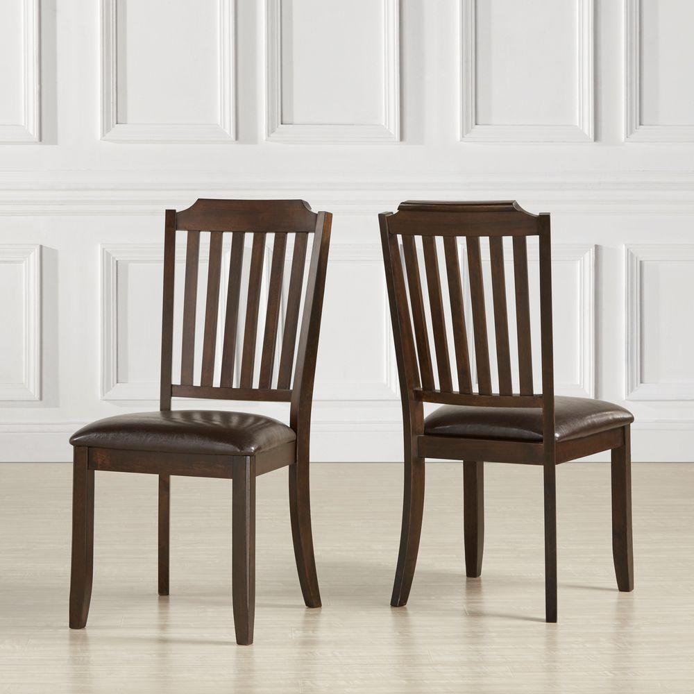 Mark Ridge Dark Cherry Wood Dining Chair Set Of 2