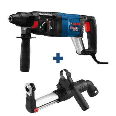 Bulldog Xtreme 8 Amp 1 in. Corded Variable Speed SDS-Plus Rotary Hammer Drill with Bonus SDS-Plus Dust Attachment