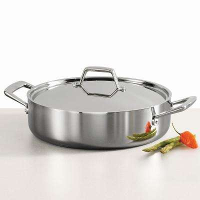 Gourmet Tri Ply Clad 6 Qt. Stainless Steel Covered Braiser