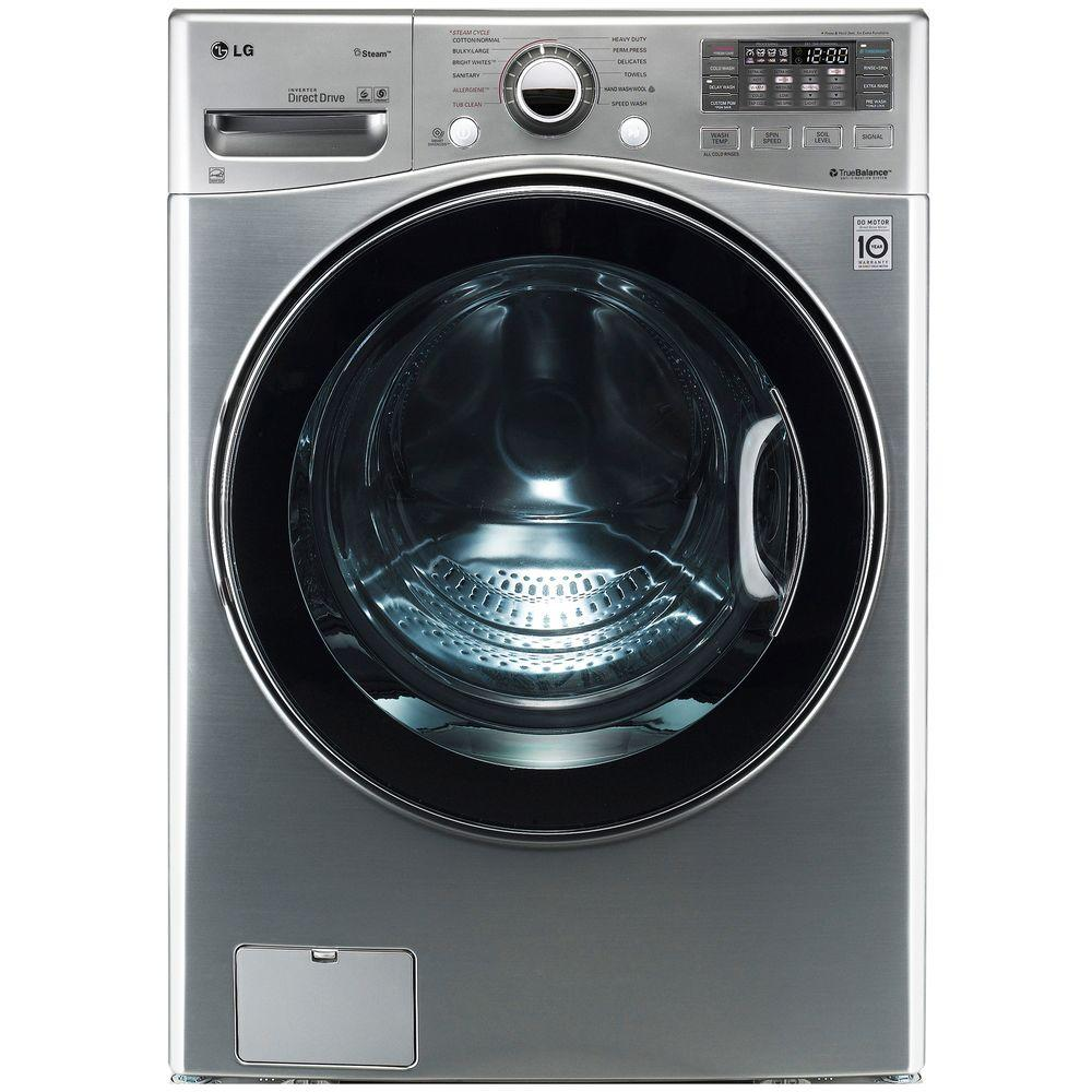 LG Electronics 4.0 DOE cu. ft. High-Efficiency Front Load Washer in Graphite Steel, ENERGY STAR-DISCONTINUED