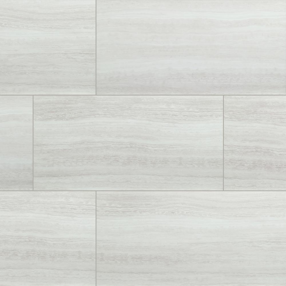 White Ocean 12 in. x 24 in. Rigid Core Luxury Vinyl Tile Flooring (19.37 sq. ft. / case)