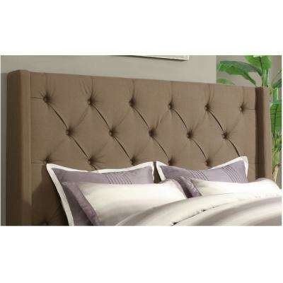 Shelter Taupe Queen Upholstered Headboard