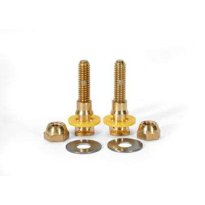 SetFast 5/16 in. x 2-1/4 in. No Cut Brass Closet Toilet Bolt Kit