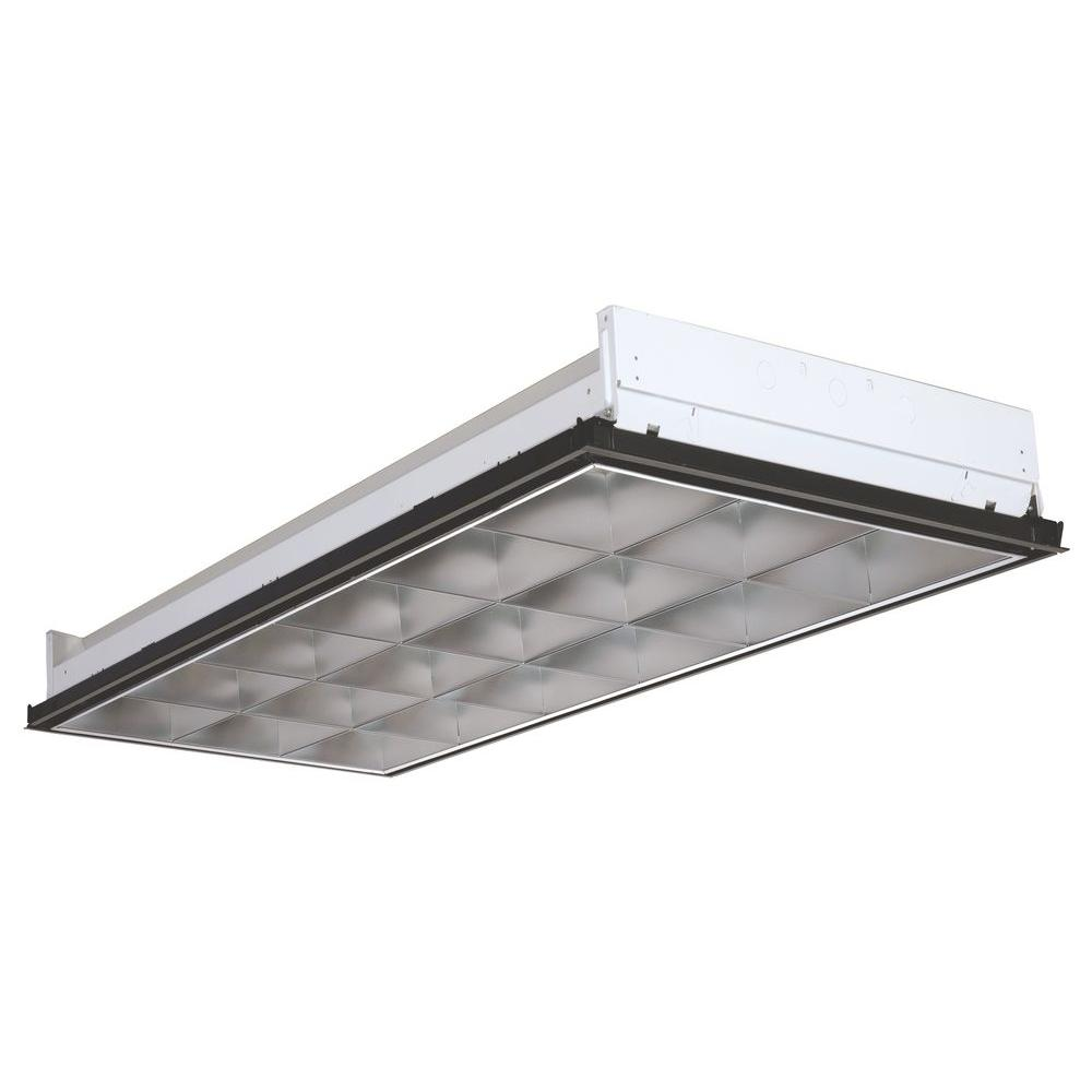Lithonia Lighting 2PM3NGB33218LD 3 Light White Fluorescent Parabolic Troffer