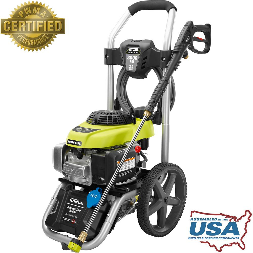 3000-PSI 2.3-GPM Honda Gas Pressure Washer ...