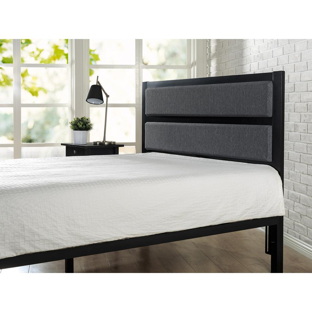 Zinus Studio Black Full Upholstered Metal Headboard Product Image