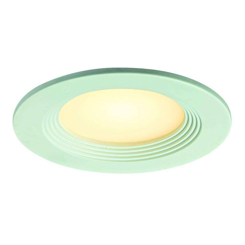Illume Lighting 4 in. White Recessed LED Retrofit Down Light