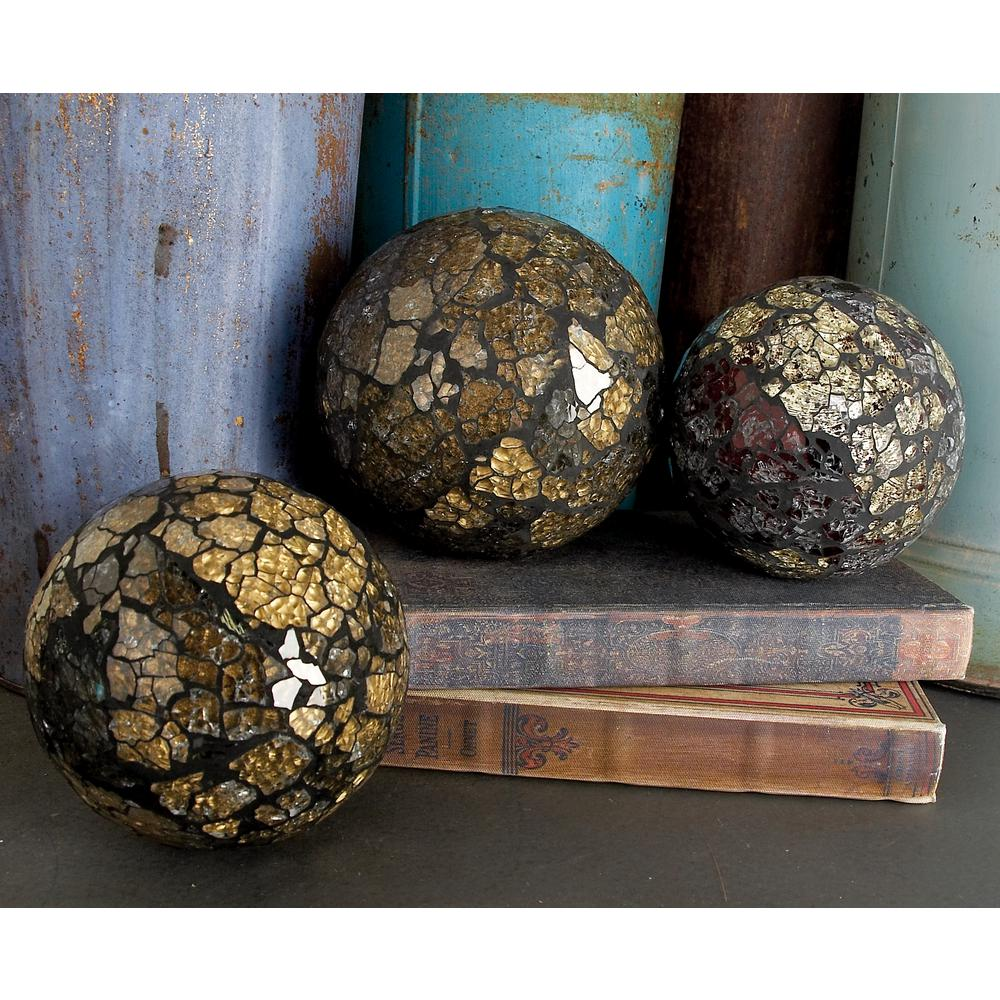 4 in. New Traditional Multi PVC Glass Mosaic Balls (4-Pack)