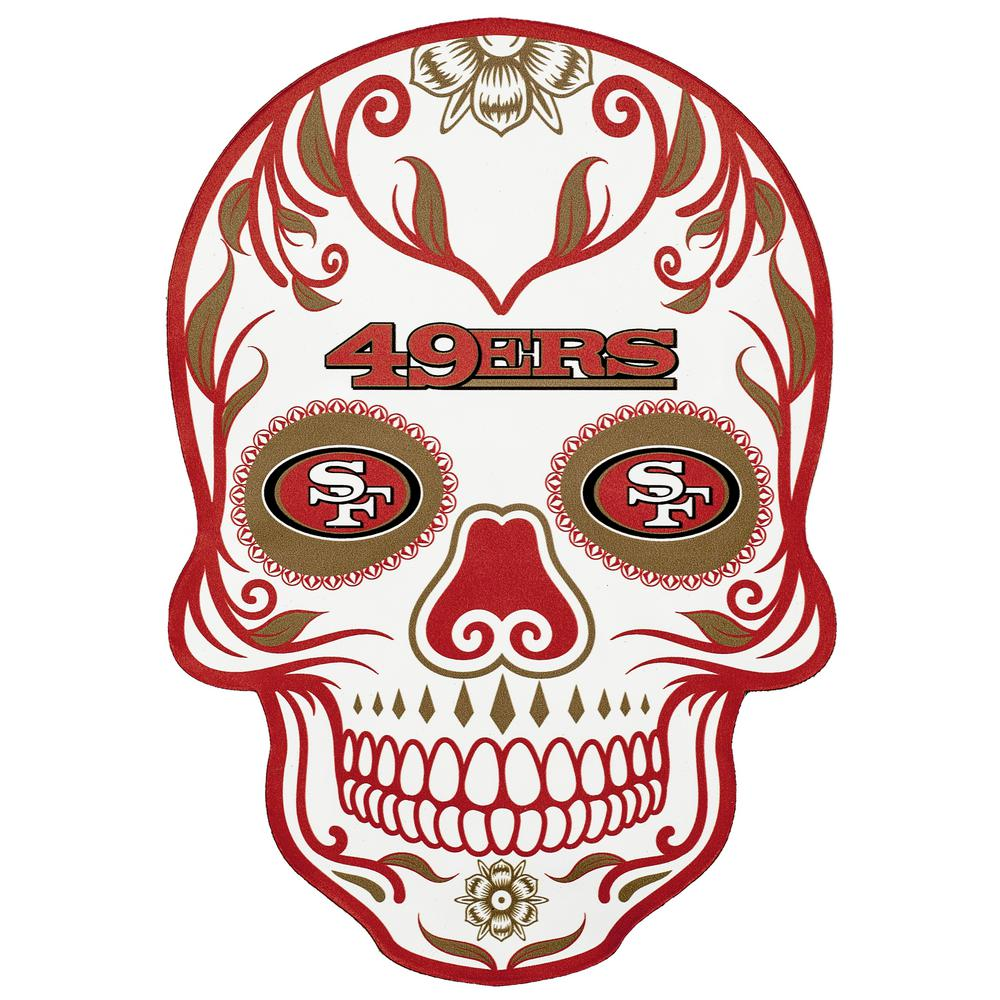 Applied Icon Nfl San Francisco 49ers Outdoor Skull Graphic