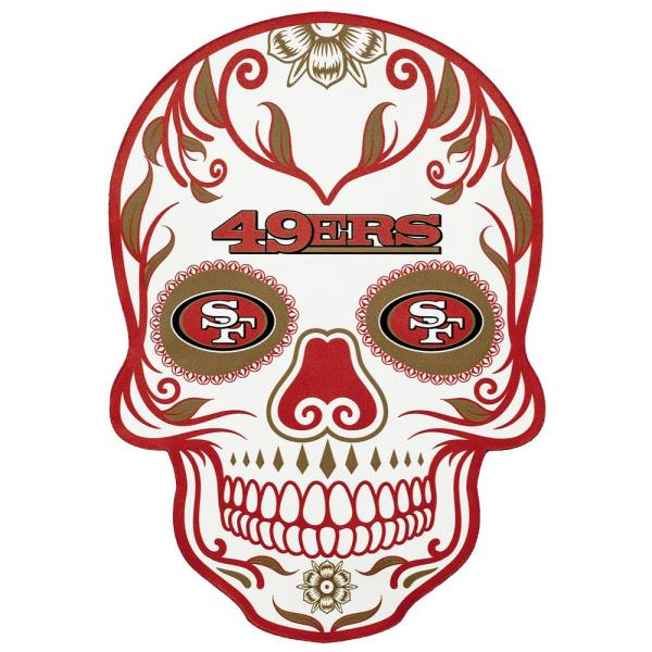 260175b2 NFL San Francisco 49ers Outdoor Skull Graphic- Large