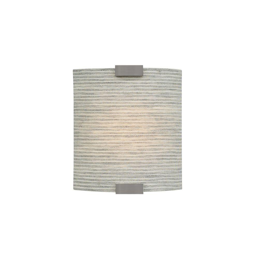 LBL Lighting Omni 1-Light Bronze Small Fluorescent Sconce with Pewter Shade