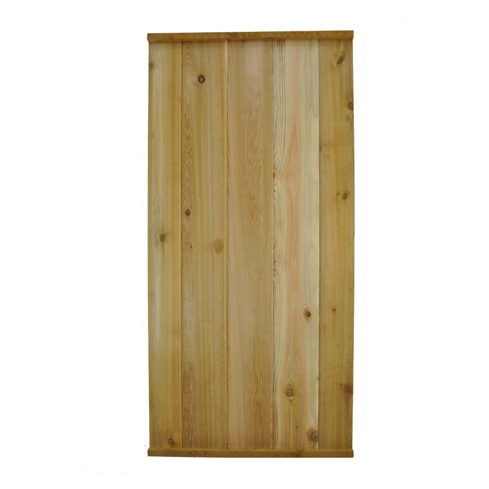 Signature Development 48 in. H x 23.25 in. W Western Red Cedar Tongue and Groove Fence Board Panels (4-Pieces)
