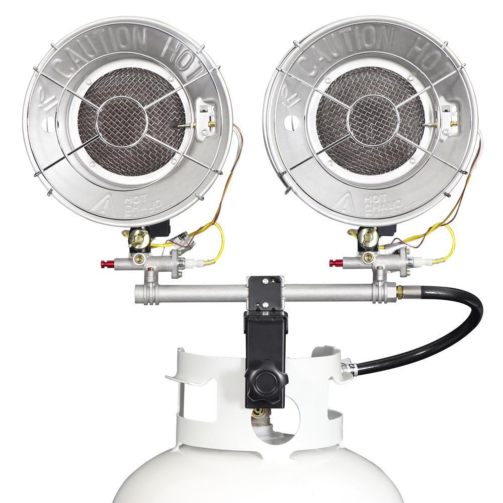 30,000 BTU Dual Burner Propane Radiant Tank Top Heater