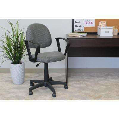 Grey Deluxe Posture Chair with Loop Arms